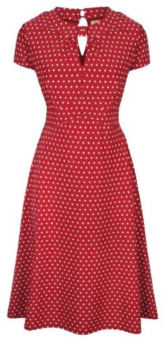 Lindy Bop `Juliet` Classy Red Polka Dot Vintage WW2 Landgirl 1940s 1950s Pinup Retro Tea Dress for only $46.99
