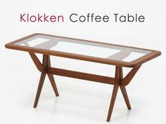 北欧デザイン家具クロッケンチーク材コーヒーテーブルモダン Scandinavian teak furniture ¥37800円 〆03月27日