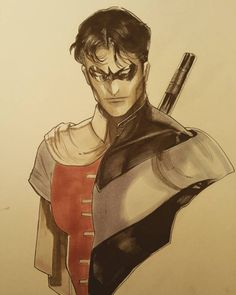 """""""When I was a child….."""" Nightwing/Robin - Peter V Nguyen #dc"""