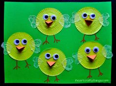 Cupcake Liner Chicks   I Heart Crafty Things