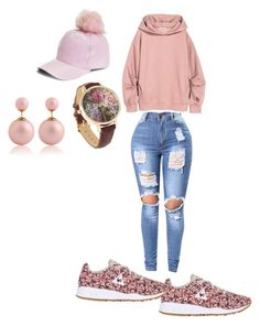 """""""Pink puff"""" by queennicki1019 on Polyvore featuring Boohoo and Le Coq Sportif"""