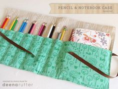 Sewing Pencil and Notebook Case. Easy sewing project for the beginner. Make great gifts for back to school time.Homemade Sewing Pencil and Notebook Case. Easy sewing project for the beginner. Make great gifts for back to school time. Sewing Class, Love Sewing, Sewing For Kids, Sewing Art, Hand Sewing, Sewing School, Fabric Sewing, Sewing Studio, Sewing Hacks