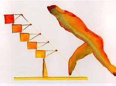 Running torso and cube sculpture (Drawing 1995) Santiago Calatrava
