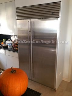 #SubZero side by side door built in #refrigerator 532 S model serviced repaired in #Malibu CA October 24 2013  #appliances #WOLF #SuZerofreezer #subzerorepair