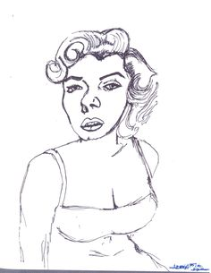 "My sketch ""Sorry Marilyn"" by K.A.I."