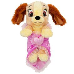 """disney parks 10"""" baby lady plush toy with blanket new with tag"""