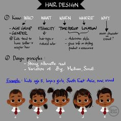 Tuesday Tips – Hair Design. Hi! Thank you so much for the super kind response on the hair design I did for Moana little friends; so I thought I would share with you on how I approach it. First is know the WHO, WHAT, WHEN, WHERE, and WHY? WHO are we...