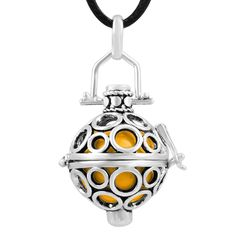 45'' New Lantern Cage Pendant Sterling Silver Pregnancy Harmony Ball Chime Ball