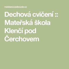 Dechová cvičení :: Mateřská škola Klenčí pod Čerchovem