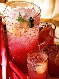 With its rosy hue, this sparkly punch is perfect for a Mother's Day brunch or bridal shower.