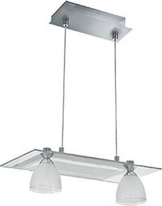 "JESCO PD304-2SN 2 Light Slantus Island Light, Satin Nickel - 2-Light Pendant.     With Built in Electronic Transformer.  Canopy: 414"" x 414"".  12""~ 72"" Height adjustment."
