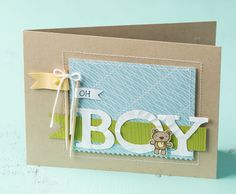 What a sweet card to give to a new nephew.