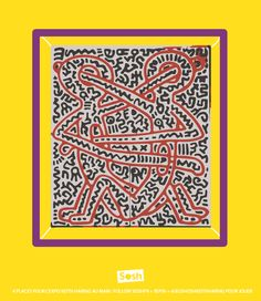 Keith Haring par Sosh #jeusoshkeithharing untitled, 1984 ©Keith Haring Foundation