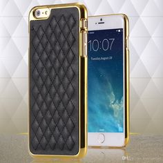 Best Phone Cases Retro Luxury Pc Plating + Pu Leather Back Case Soft Sheep Skin Grid Cell Phone Cover For Iphone 6 4.7inch/6plus 5.5inch Cell Phone Case Wallet From Mayiandjay, $2.17