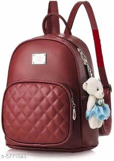 Backpacks TRENDY BACKPACK FOR GIRLS AND WOMENS Material: PU No. of Compartments: 2 Pattern: Solid Multipack: 1 Sizes: Free Size (Length Size: 15 in) Country of Origin: India Sizes Available: Free Size *Proof of Safe Delivery! Click to know on Safety Standards of Delivery Partners- https://ltl.sh/y_nZrAV3  Catalog Rating: ★3.9 (2573)  Catalog Name: Voguish Classy Women Backpacks CatalogID_868576 C73-SC1074 Code: 582-5771823-
