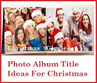 Photo Book/Photo Album Title Ideas! : Christmas