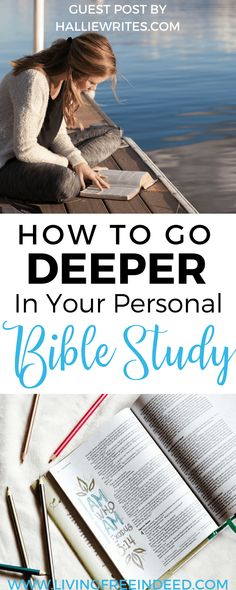 3 Ways to Go Deeper in Your Personal Bible Study - Free Indeed The riches of the Word are there for us to mine, better than silver and gold. Here are 3 tips for getting more out of your daily Bible study. Bible Study Questions, Bible Study Tips, Bible Study Journal, Scripture Study, Bible Verses, Bible Bible, Scriptures, Bible Quotes, Bible Plan