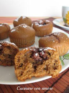 oggi ho fatto colazione con questi golosi muffins al caffè d'orzo ripieni di nutella, sono semplici e veloci da realizzare e poi come tutti sappiamo il caffè d'orzo contiene meno caffeina.