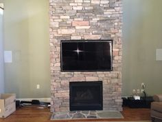 How To Wall Mount A Flat Screen Tv: With TV above Fireplace Design ...