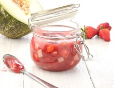 Erdbeer-Melonen-Marmelade - Rezept - ichkoche.at