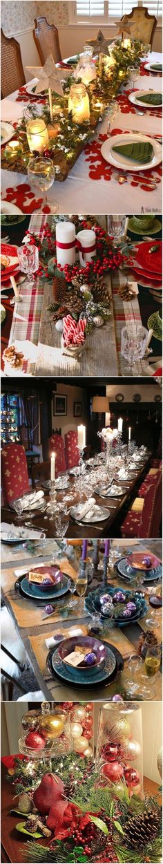 Christmas table settings and centerpiece ideas
