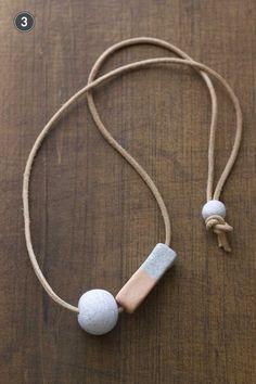 7 Handmade necklaces. #handmade #modern #art