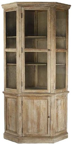 Maldives Corner Cabinet - Distressed Cabinet, Pale Green Cabinet ...