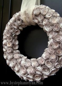 Old paper roses wreath!
