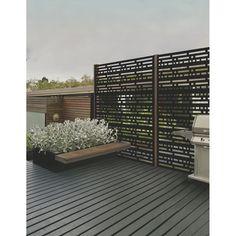 Morse Outdoor Decorative Panel - x - Black RONA (for top of pergola? Patio Roof, Pergola Patio, Pergola Plans, Pergola Kits, Pergola Ideas, Patio Ideas, Rustic Pergola, Patio Privacy, Corner Pergola