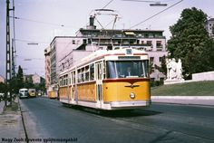 1960-as évek, Attila út, 1. kerület Rail Europe, Light Rail, Commercial Vehicle, Budapest Hungary, Paint Schemes, Old Photos, History, Vehicles, Old Pictures