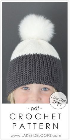 This modern two tone hat design looks like knit b9eb33318