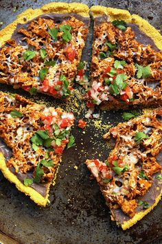 chicken tamale pizza and 2 ingredient cornmeal crust ++ 24 carrot life