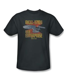Look at this #zulilyfind! Charcoal 'U.S.S. Enterprise' Tee - Adult by Trevco #zulilyfinds