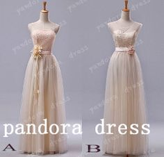 bridesmaids and maid of honour Floorlength lace long Bridesmaid DressProm by PandoraDress on Etsy, $129.00