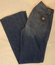 Joe's Jeans Joni boot cut medium blue distressed denim jeans womens SZ 28 #JoesJeans #BootCut