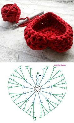 Daily Useful and Cool Crochet Bag Pattern Ideas – Page 17 of 60 – Beauty Crochet Patterns! Crochet Basket Pattern, Crochet Flower Patterns, Crochet Diagram, Crochet Designs, Crochet Flowers, Crochet Diy, Crochet Gifts, Crochet Motif, Crochet Stitches