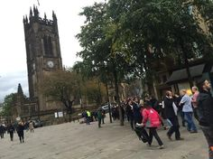 Omg!!! Look at the queue to get into Manchester Cathedral.. It doesn't start till 7pm