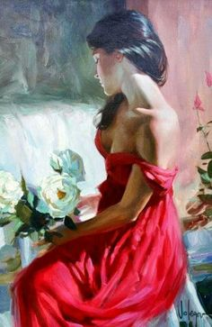 Vladimir Volegov from a rose painting is shipped worldwide,including stretched canvas and framed art.This Vladimir Volegov from a rose painting is available at custom size. Woman Painting, Painting & Drawing, Dress Painting, Vladimir Volegov, Illustration Art, Illustrations, Contemporary Abstract Art, Abstract Landscape, Love Art