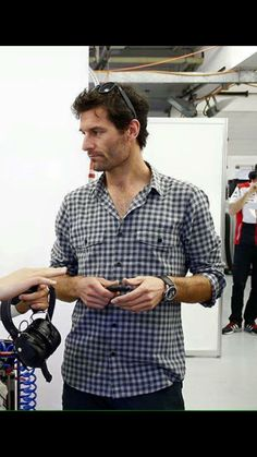 Mark @ Rookie test in Bahrain, the day after.