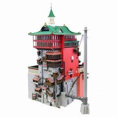 Studio Ghibli Spirited Away: Aburaya (Bathhouse) MK07-10 Paper Craft Kit