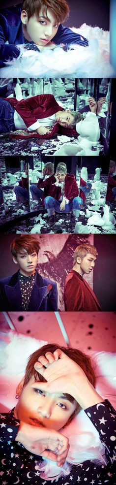 BTS first images concepts for WINGS  .. Jungkook and Rap Monster