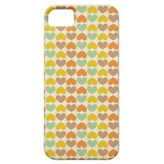 Vintage Argyle love pattern iPhone 5 Cover