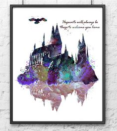 Hogwarts Castle Harry Potter Hogwarts Painting by gingerkidsart