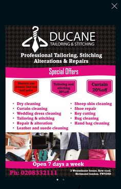Looking for Dry Cleaners near me. Ducane Dry Cleaners & Laundry Service to Richmond and surrounding areas in London with Same day delivery. Dry Cleaning Services, Laundry Service, Clean Shoes, Rug Cleaning, Laundry, Cleaning Carpets, Cleaning Rugs