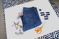 Borsa con un vecchio jeans