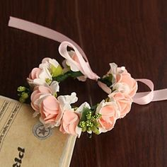 Wedding Flowers Round Roses Wrist Corsages Wedding / Party ...