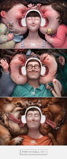 How Cool Is The Art Direction On These Award-Winning Ads For JBL Headphones?