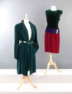 Yves SAINT LAURENT haute couture n°67471/ 67472, Robert Goossens circa