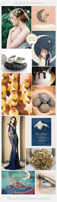 Wedding Inspiration Board - moon and stars