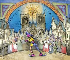 """""""topsy turvey, everything is upsy daisy, topsy turvey, everything is going CRAZY!!"""" Sooo excited for this!!    Clopin's Music Box Adds to Old-World Charm of Fantasy Faire at Disneyland Park"""